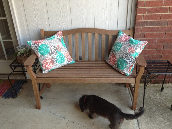 Outdoor throw pillows - Jack and Mandy: The Blog