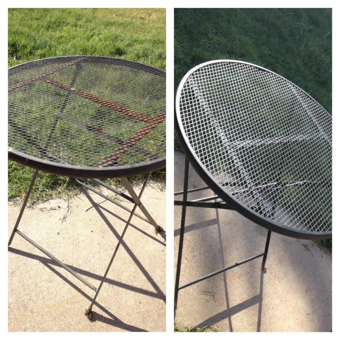 Patio table makeover - Jack and Mandy: The Blog