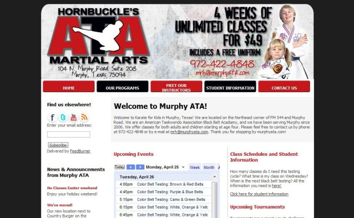 First MurphyATA website